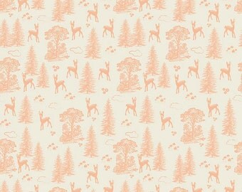 Woodland Friends Coral From Riley Blake