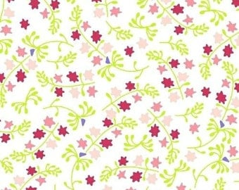 Pink & Green Floral from Windham Fabric's Enchanted Collection by Sara Fielke