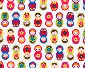 Mini Bright Matryoshka Dolls from Robert Kaufman's Suzy's Mini by Suzy Ultman