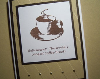 Coffee Cup Retirement Card