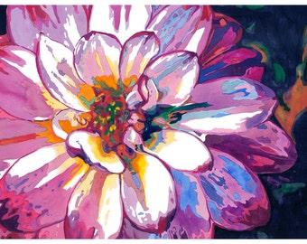 "Flower Watercolor Giclee Fine Art Print 5x7"" [Watercolor Flower Print, Flower Print, Flower Art, Wild Flower Art, Watercolor Art]"