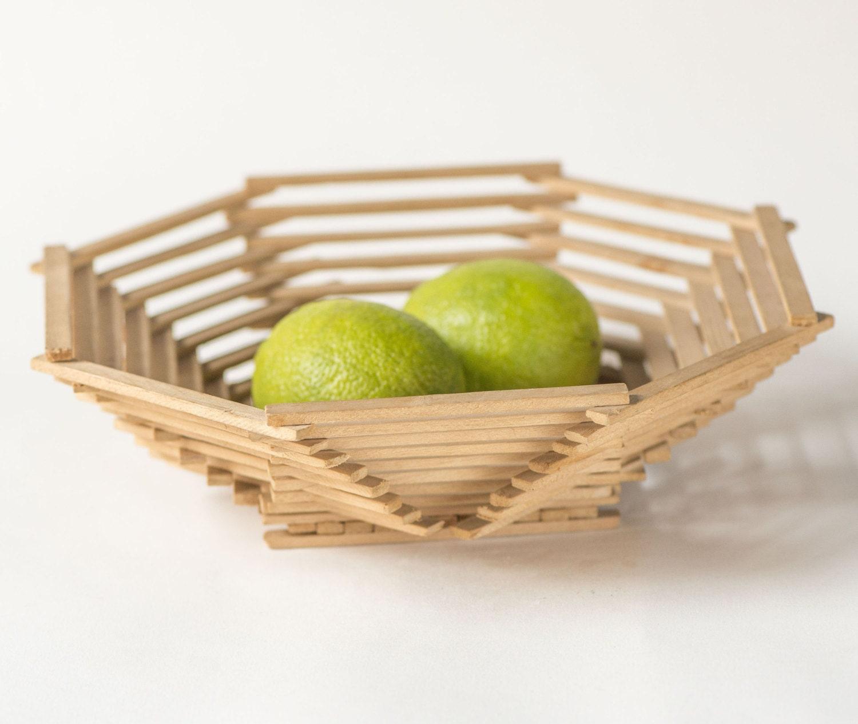 Vintage Hadmade Basket Wooden Fruit Basket Kitchen Basket