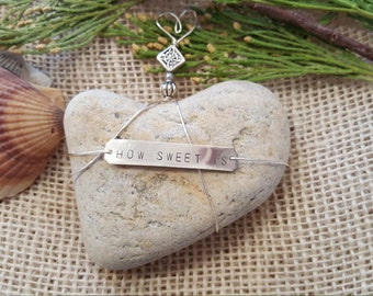 Heart Shaped Beach Stone Paperweight/How Sweet It Is/ Special/ One of a Kind/ Heart Gift/Yoga