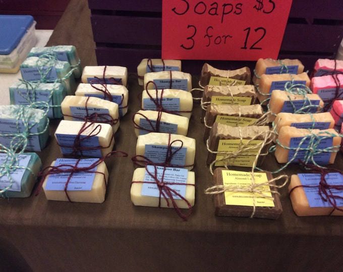 Rosemary-Peppermint Soap- Homemade, Naturally scented