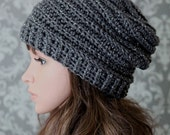 Crochet PATTERN - Easy Crochet Pattern - Crochet Slouchy Hat Pattern - Ribbed Crochet Hat Pattern - Baby, Child, Adult Sizes -  PDF 429