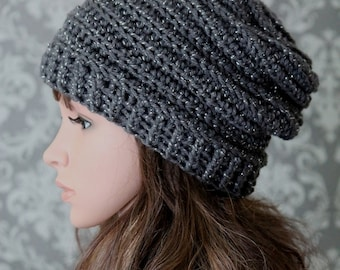 Crochet PATTERN - Easy Crochet Pattern - Crochet Slouchy Hat Pattern - Ribbed Crochet Hat Pattern - Baby, Child, Adult Sizes -  PDF 429