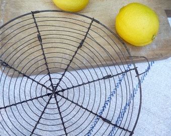 Vintage French Cake Rack Cooling Rack French Wirework Serving Tray Baking Rack Bakeware French Country Kitchen