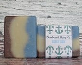 Beach Bum Handmade Soap with Cocoa Butter and Avocado Oil - Beach Soap - Ocean Soap