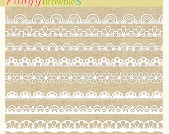 ON SALE, lace border clipart, digital scrapbooking borders. B-12, white border clip art, instant download