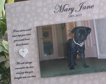 DOG Memorial Frame, Cat Memorial Frame, Pet Memorial Frame, Loss of Dog Frame, Loss of Pet Frame, Dog Sympathy Frame, Pet Sympathy Frame