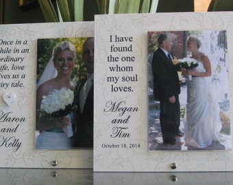 Bride and Groom Frame, Bride and Groom Wedding Frame, Personalized Picture Frame, Custom Wedding Photo Frame, 4 x 6 photo, Saying Choices
