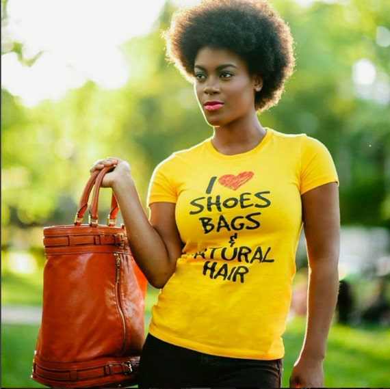 I heart shoe bags & natural hair tshirt