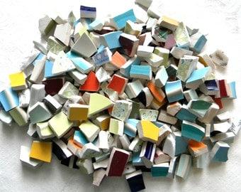 Broken China MOSAIC Tiles - FOOTERS Mix - 200 Plus Tiles
