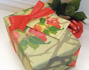 Quince Gift Wrapping Paper Set - Gift Wrap for Gardeners, flower gift wrap