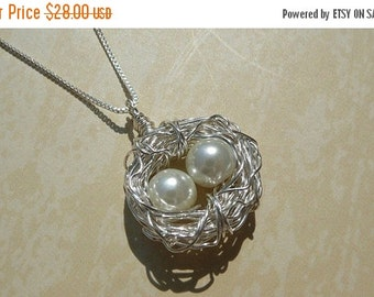 SALES EVENT Birds Nest Necklace Sterling Silver