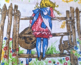Vintage Holly Hobbie Fabric