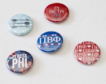 """Pi Beta Phi 1"""" Buttons"""