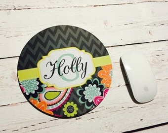 Personalized Mousepad with Monogram great gift for any occassion