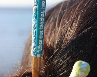 Teacher Hair Stick I When one teaches, two learn I Chinese Bun Stick I Custom Hair Stick I Hair Accessory for teacher I Etchythings