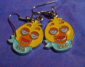 FNAF, Chica Earrings, Five Nights at Freddys, FNAF Jewelry, Nickel Free Earrings