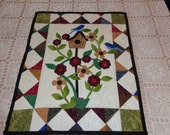 Bluebirds and Blooms, Country Wall Quilt, 0314-01