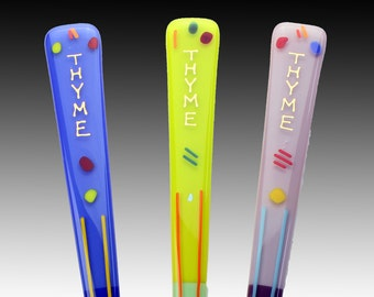 Thyme GARDEN ART STAKES Add Artistic Color and Flair to your Garden!