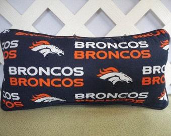 Denver Broncos Pillow in Navy Blue Orange White / Sports Pillow