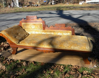 good shape antique 1880s EASTLAKE childs FAINTING COUCH  pick up only
