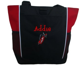 Tote Bag Personalized Golf Golfing Sports Clubs Bag Monogrammed Many Colors to Choose