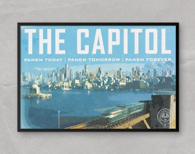 Hunger Games Poster or Framed Print of the Panem Capitol