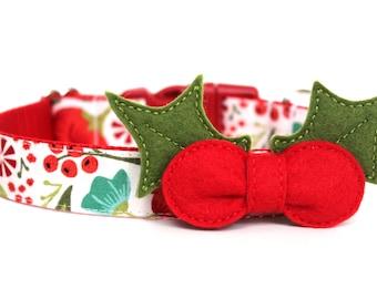 "Christmas Felt Dog Collar Flower Add-on For Dog Collar FOR 1"" BUCKLE COLLAR"