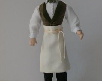 Dollshouse Miniature KELVIN - OOAK Handcrafted 1/12 scale Male Doll