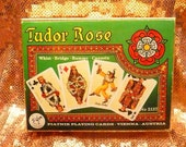 Piatnik Tudor Rose Royal Playing Deck Cards Bridge Rummy English 1980 Ornate 1600s