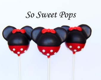 So Sweet Pops Happily Made Mouse with Red Bow Inspired Cake Pops