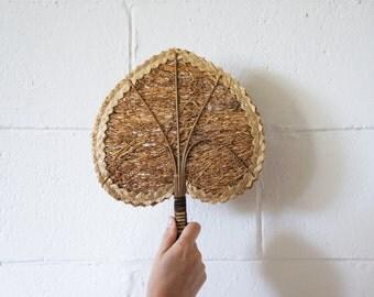 Vintage Woven Fan, Accessory