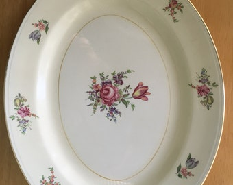 Household Institute Priscilla Pattern Eggshell Nautilus USA Platter