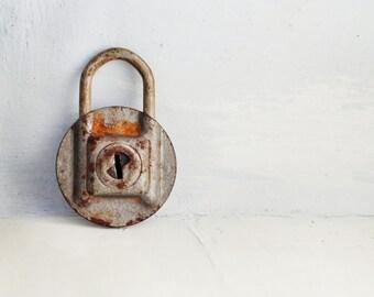 Christmas Sale 15 % Vintage Padlock - Old Padlock - Vintage Decor  - Steampunk Indastrial