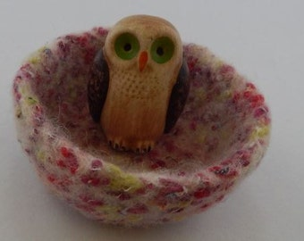 felted wool bowl ring dish