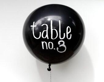 Chalkboard Balloons for Wedding Decor, Chalk Balloons for Table Numbers, Black Chalkboard Balloons, Wedding Chalkboard Balloons