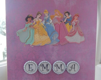 Personalized 8 1/2 x 11 Princess Sketchpad