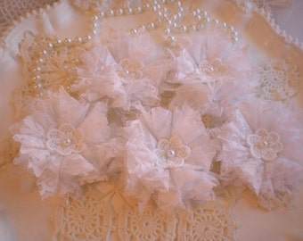 Handmade Vintage Lace Flowers Home Decor Wedding Sash Set Of 5 By SincerelyRaven On Etsy