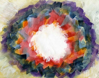 Original Watercolour Painting // Abstract Maelstrom //  watercolor // lines // dramatic