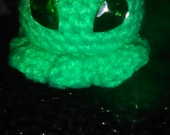 Mini alien octopus keychain/backpack clip