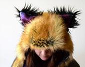 Red Fox Scoodie. Spirit Hood.