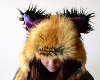Red Fox Scoodie. Spirit Hood.