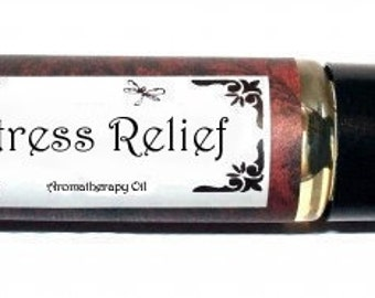 STRESS RELIEF - Roll on Premium Essential Oil Blend - 1/3 oz  All Natural Aromatherapy Oil