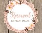 Reserved for VALERIE SMITH