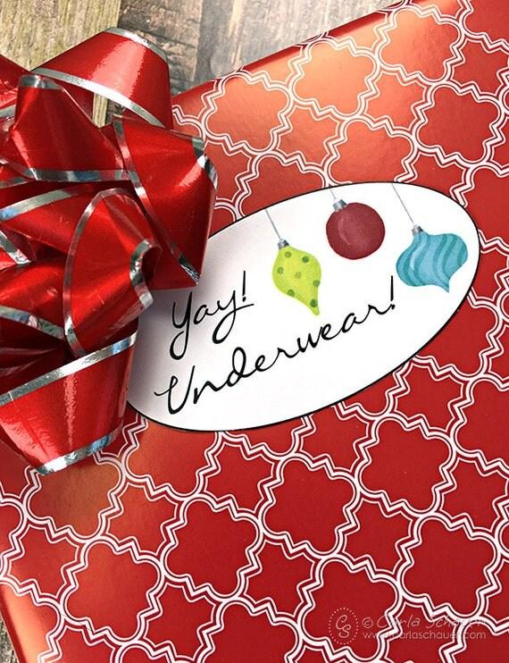 Snarky Christmas Gift Tags Funny Holiday Gift Tags