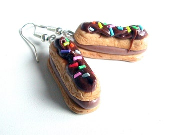 Mini Food Eclair Earrings