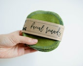 """Facial Rounds  Face Cloth - Make-up Remover - Facial Rounds - 4"""" Face Wipes - Choose your quantity -- GREEN"""